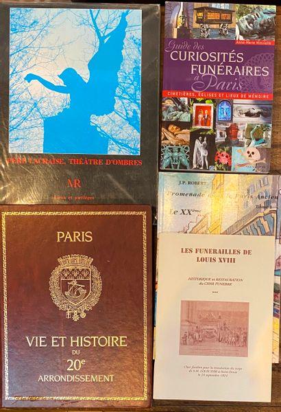 [CIMETIERE] Ensemble de 12 ouvrages sur les cimetières parisiens
