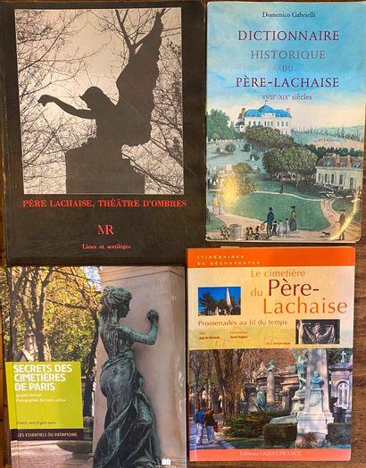 [CIMETIERE] Ensemble de 15 ouvrages sur le Père Lachaise (Dansel, Rheims, Moreaux,...