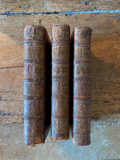 LA FONTAINE. Contes et Nouvelles. 1755, 3 volumes reliés pleine basane, usures....
