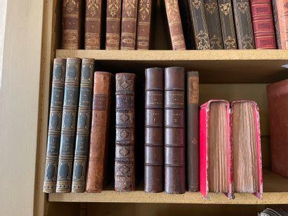 Lot of works of literature including Oeuvres de Victor Hugo (Odes et ballades, les...