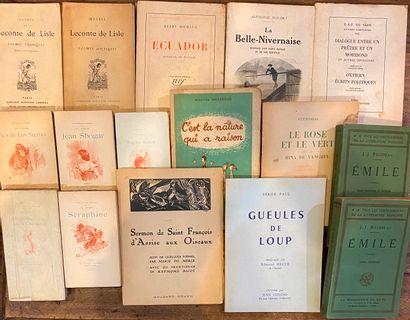 [LITTÉRATURE 3] Ensemble de 50 volumes reliés et brochés