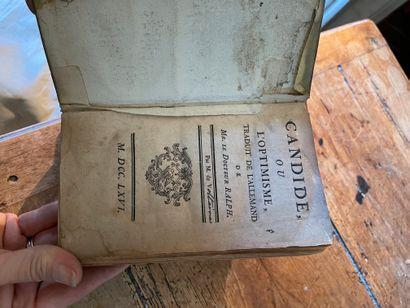 [VOLTAIRE] :  - Histoire de Charles XII. 1732 (3e édition), in-12 relié pleine basane...