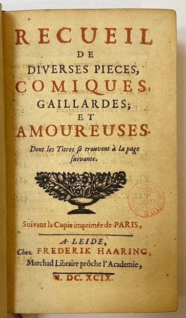 [PREFONTAINE, César François Oudin, sieur de].  Recueil de diverses pièces comiques,...