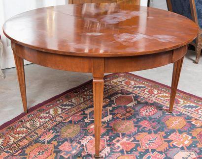 Table de salle à manger ronde en bois naturel...