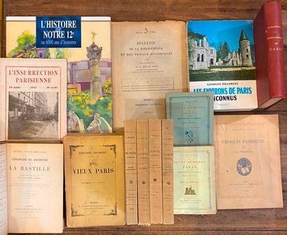[PARIS] Ensemble de 14 volumes sur Paris,...