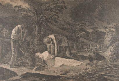 Ecole du XIXème siècle,  La mort de Virginie...