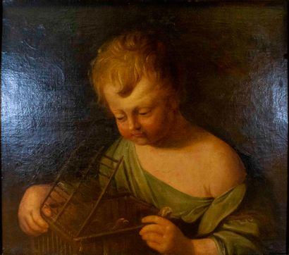 Ecole française du XVIIème siècle,  Enfant...