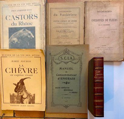 [SCIENCES NATURELLES] Ensemble de 12 volumes dont le Calendrier du Rosiériste.