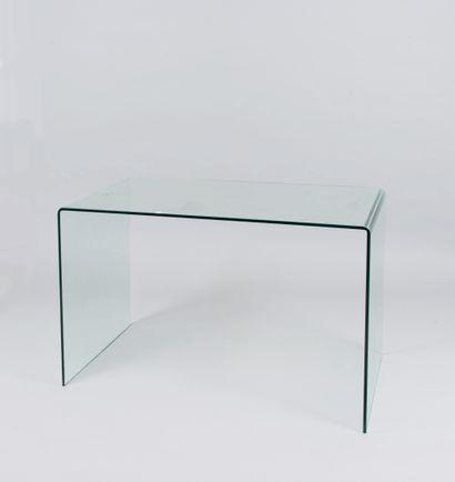 Bureau en verre courbé  75 x 119,5 x 70,5...