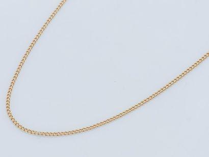 Fine chaîne en or jaune 18 carats (750 ‰)...