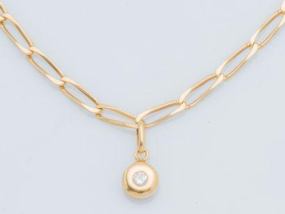 Bracelet en or jaune 18 carats (750 ‰) à...
