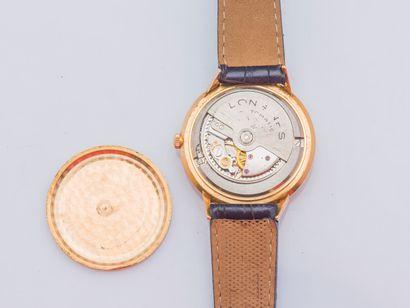 LONGINES Montre classique modèle Flagship en or jaune 18 carats (750 ‰), boîtier...