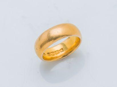 Large alliance en or jaune 22 carats (900...