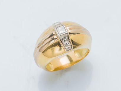 Bague bandeau en or jaune 18 carats (750...