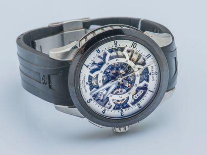 PERRELET vers 2011 Chronographe Squelette référence A1056/1 en acier et acier traité...