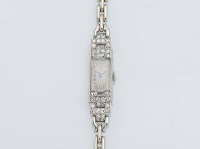 Cadran et bracelet montre signé LEROY & Fils,...
