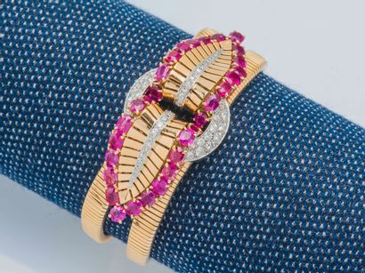 Bracelet souple en or jaune 18 carats (750...
