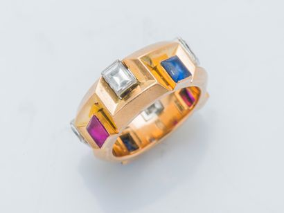 Large bague jonc en or jaune 18 carats (750...