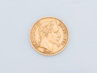Pièce de 20 francs or Napoléon III 1868....