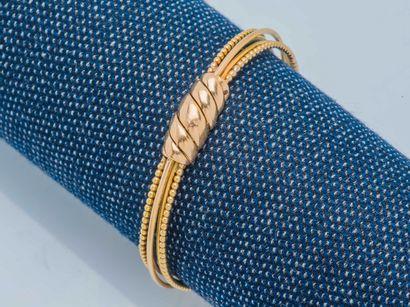 Bracelet multijoncs rigide et ouvrant en...