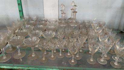 Cristalerie VAL SAINT LAMBERT,  Partie de...