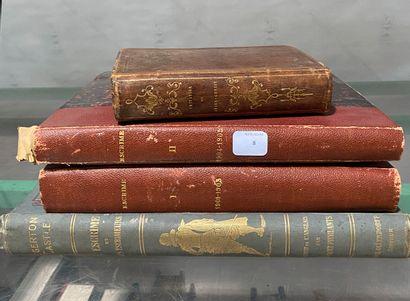 Lot de 4 livres reliés et brochés