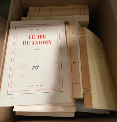 Lot de 3 cartons de livres  On y joint un...