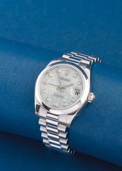 ROLEX (OYSTER PERPETUAL / DATEJUST - PLATINE...