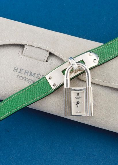 HERMÈS (Montre Cadenas - Argent n° 737905),...