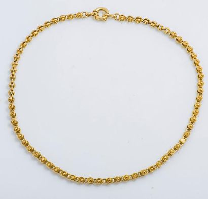 Chaîne en or jaune 18 carats (750 millièmes)...
