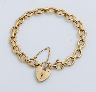 Bracelet en or jaune 9 carats (375 millièmes)...