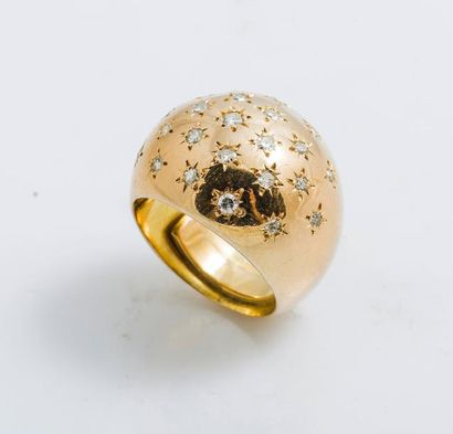 Bague jonc bombée en or jaune 18 carats (750...