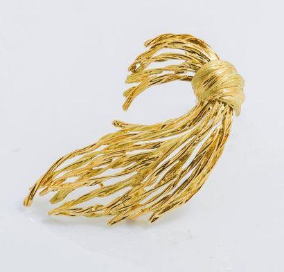 Broche gerbe en or jaune 18 carats (750 millièmes)...