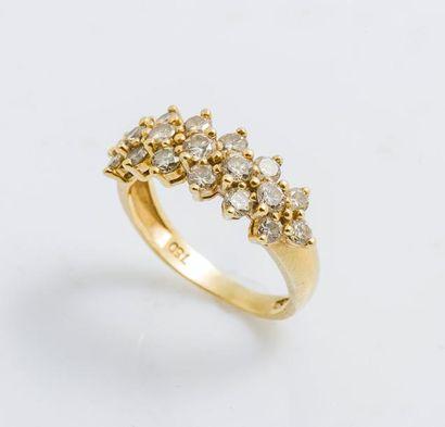 Demi-alliance en or jaune 18 carats (750...