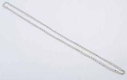 Long sautoir en or gris 18 carats (750 millièmes)...