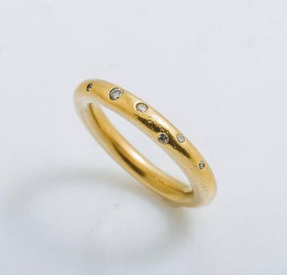 Alliance jonc en or jaune 18 carats (750...