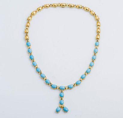 Collier négligé en or jaune 18 carats (750...