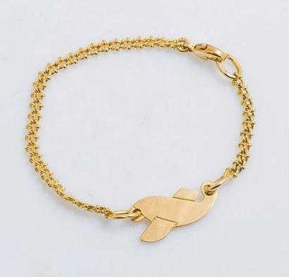Bracelet gourmette d'enfant en or jaune 18...