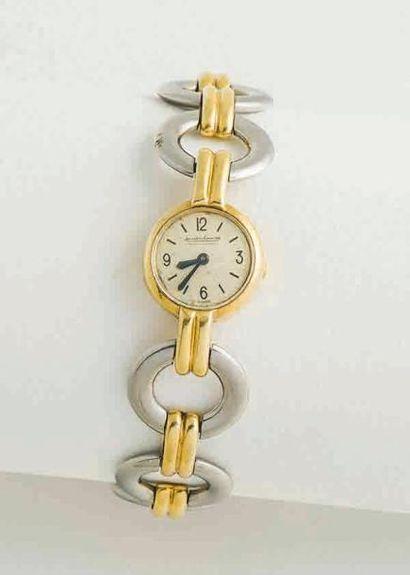 Montre bracelet de dame en or jaune et gris...