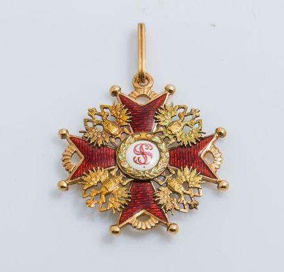 Ordre de Saint-Stanislas, croix en or (583...