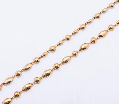 Sautoir en or jaune 9 carats (375 millièmes)...