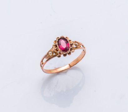 Bague en or rose 18 carats (750 millièmes)...