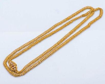 Sautoir en or jaune 18 carats (750 millièmes)...