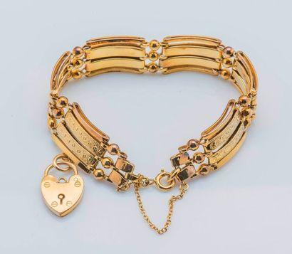Bracelet articulé en or jaune 9 carats (375...