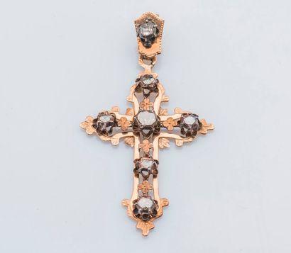 Pendentif croix provençale en or jaune 18...