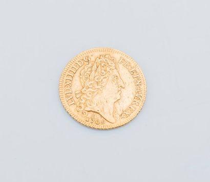 Un Louis d'or Louis XIV Paris 1709  Poids...