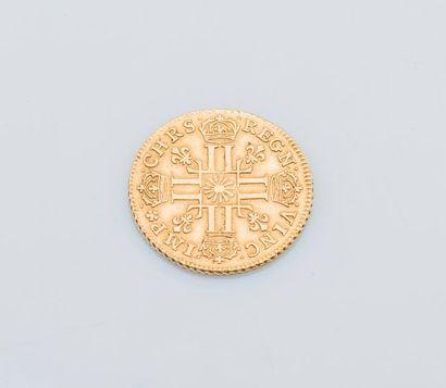 Un Louis d'or Louis XIV Paris 1709  Poids : 8,1 g