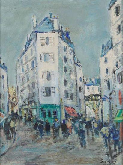 ROBERT SAVARY (1920-2000) Paris, la rue de...