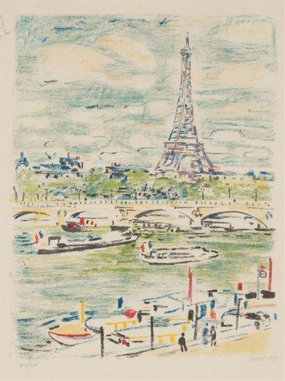 ROBERT SAVARY (1920-2000) La place Blanche...