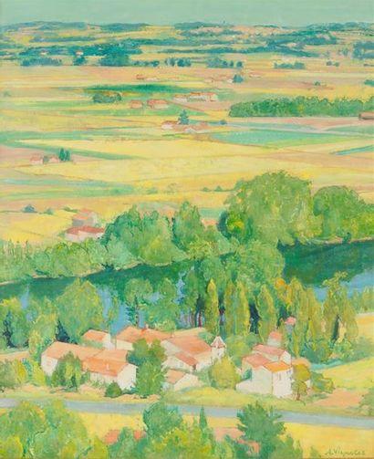ANDRÉ VIGNOLLES (1920-2017) La plaine de...